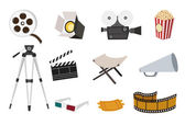 Movie icon set — Stock Vector