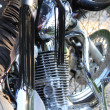 Engine of the motorcycle — Stock Photo