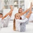 Healthy morning stretching — Stock Photo