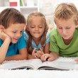 Royalty-Free Stock Photo: Kids practice reading together