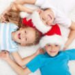 Happy kids at christmas time — Stock Photo