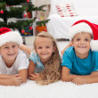 Royalty-Free Stock Photo: Happy kids at christmas time
