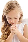 Little girl praying — Stock Photo