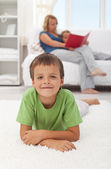 Happy child at home — Stock Photo