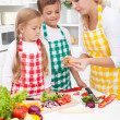 Family preparing healthy meal — Stock Photo #7538944
