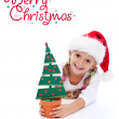 Happy christmas girl — Foto Stock