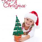 Happy christmas girl — Stock Photo