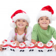 Happy christmas kids — Stockfoto