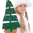 Christmas tree decoration in litte girl hand — Stock Photo #7539071