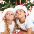 Smiling kids at christmas — Stock Photo #7539730