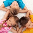 Kids taking a break — Stock Photo