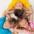 Stock Photo: Kids relaxing and meditating