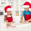 Making surprise christmas cookies - Stock Photo