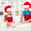 Making surprise christmas cookies — Stock Photo