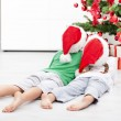 Royalty-Free Stock Photo: Kids admiring the christmas tree