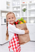 Home with the groceries — Stock Photo