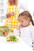 Sağlıklı bir yeme alışkanlığı için eğitim — Stok fotoğraf