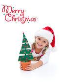 Happy christmas girl — Stock fotografie