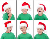 Happy child with christmas hat — Stock Photo