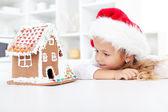 Minha casa de biscoito de gengibre natal — Fotografia Stock