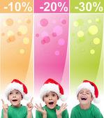 Crazy christmas försäljning banners — Stockfoto