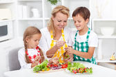 Preparing healthy food — Stock Photo