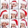 Christmas expressions on little girl - Lizenzfreies Foto
