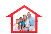 Family in their home — Stock Photo