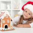 My christmas gingerbread cookie house - Stock Photo