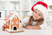 My christmas gingerbread cookie house — Stock Photo