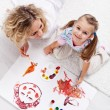 Stock Photo: Painting with mom
