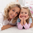 Spending some happy time with mother — Stock Photo