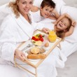 Happy morning and healthy food — Stock Photo