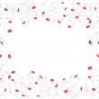 Small red flowers. Vector art — Stock Vector