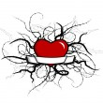 Heart with plants around. Vector art — Stock Vector #6939238