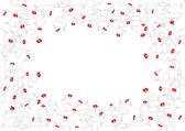 小さな赤い花です。ベクトル アート — ストックベクタ