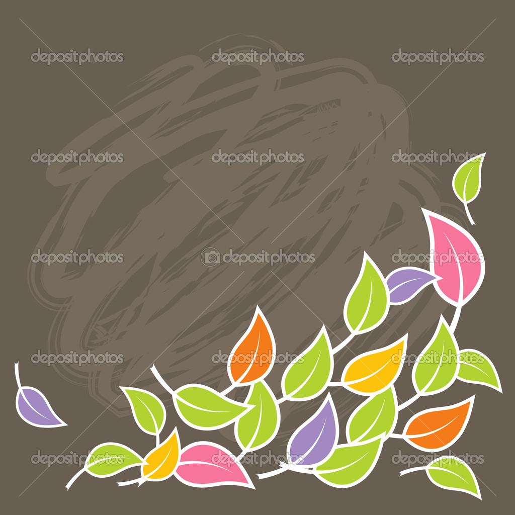 Illustration of colorful leafs. Vector — Stock Vector #6939931