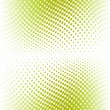 Green color halftone. Vector — Stock Vector #6940078