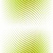 Green color halftone. Vector — Stock Vector
