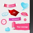Set of pink and purple labels, stickers. — Stock Vector