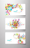Conjunto de etiquetas de música abstracta colorido. — Vector de stock