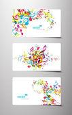 Conjunto de tags música colorido abstrato. — Vetorial Stock