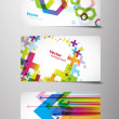 Set of gift cards with symbols. — Stock Vector