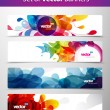 Set of abstract colorful web headers. — Stockvector
