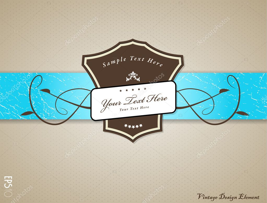 Vintage vector illustration with place for your text. — Stock Vector #7579782