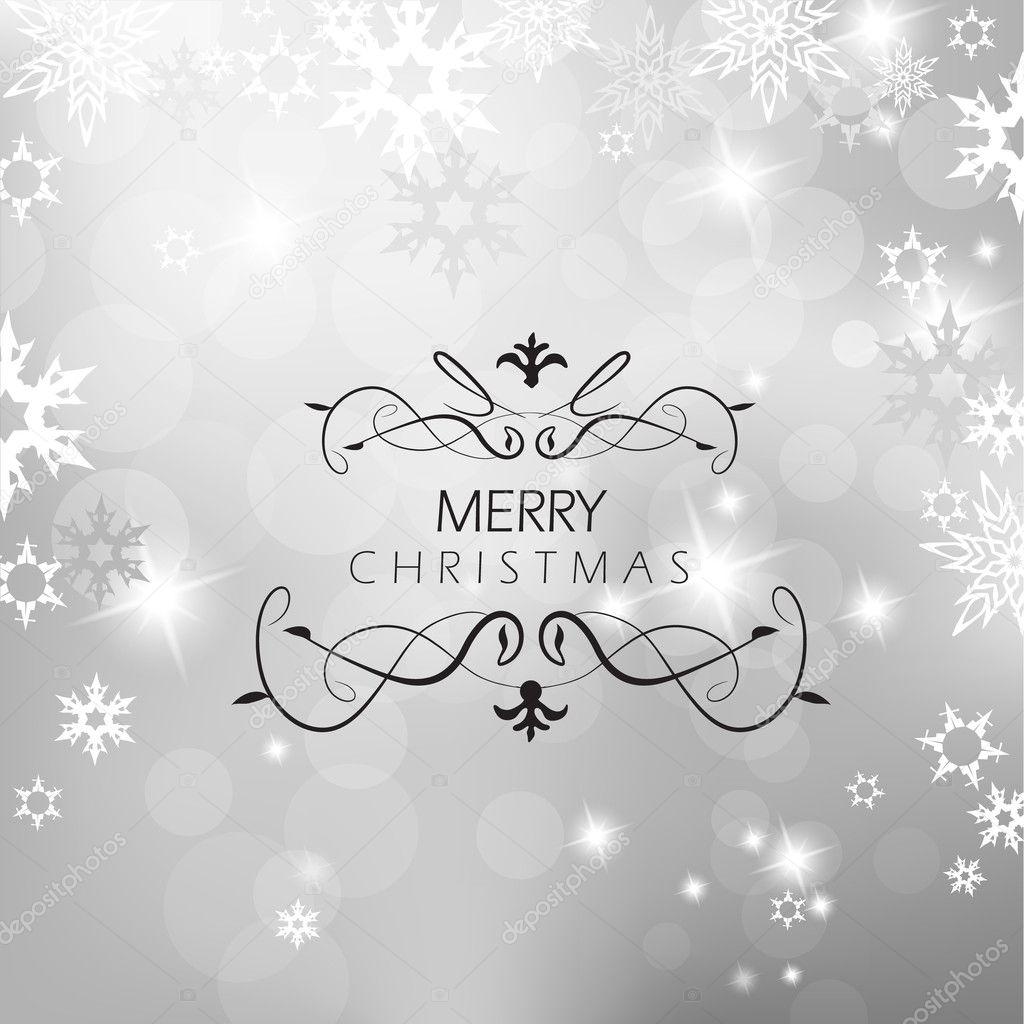与雪花圣诞银色背景 — 图库矢量图片#7869707
