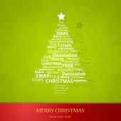 Christmas tree of Christmas words. — 图库矢量图片