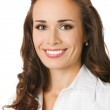 Happy smiling business woman, over white — Stock Photo #7334609