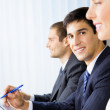 Businesspeople at meeting, presentation or conference — Stock Photo