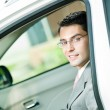 Businessman in the car — Stock Photo #7506787